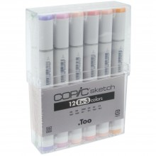 Copic Sketch Ex-3 Markers Set 12/Pkg