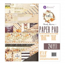 "Double-Sided Paper Pad 12""X12"" 24/Pkg By Amber Moon Prima Marketing"