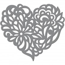 "Dies Magnolia Heart 3.9""X3.5"" By Ultimate Crafts"