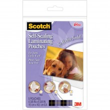 "Scotch Self-Sealing Laminating Pouches 4""X6"" 5/Pkg"