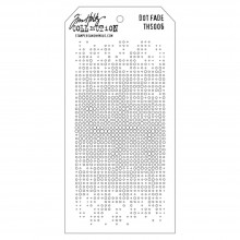 "Dot Fade Stencil By Tim Holtz 4.125""X8.5"""