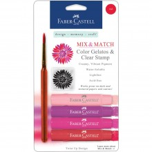 Mix & Match Gelatos & Stamp Kit Red Shades By Faber Castell