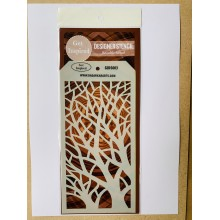 "Dense Branches Designer Reusable Stencil 8""x 4"" By Get Inspired - GIDS003"