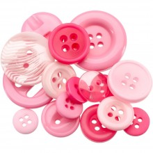 Button Jar 4oz -  PINK