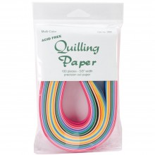 "Quilling Paper 25 Color Assortment .625"" 100/Pkg"